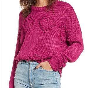 Cotton emporium heart bobble sweater